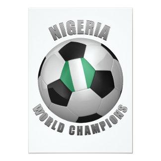 NIGERIA SOCCER CHAMPIONS 13 CM X 18 CM INVITATION CARD