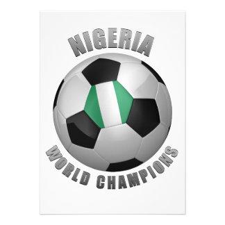 NIGERIA SOCCER CHAMPIONS PERSONALIZED INVITATIONS