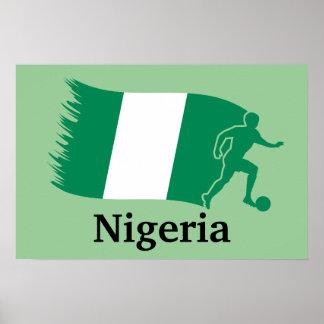 Nigeria Soccer Flag Poster
