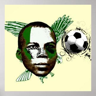 Nigeria Soccer T-shirts Poster