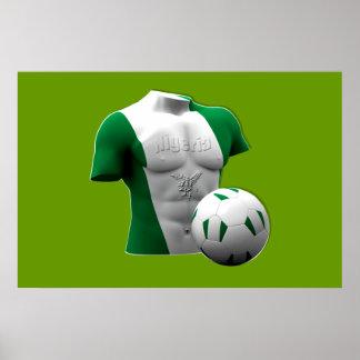 Nigeria torso flag soccer football gifts posters