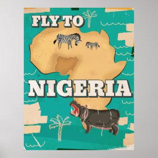 Nigeria Vintage Travel poster