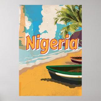 Nigeria Vintage vacation Poster