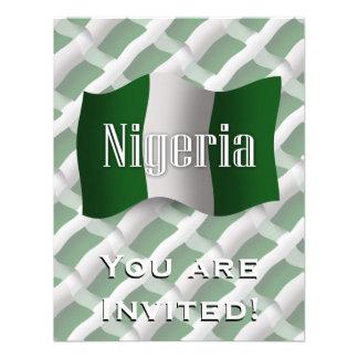 Nigeria Waving Flag Personalized Invitation