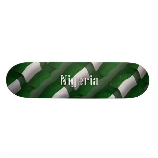 Nigeria Waving Flag Skate Deck