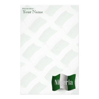 Nigeria Waving Flag Stationery Design