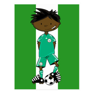 Nigeria World Cup Soccer Boy Postcard