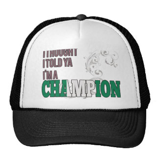 Nigerian and a Champion Trucker Hats