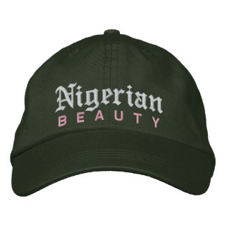 Nigerian Beauty Custom Hat Embroidered Hat