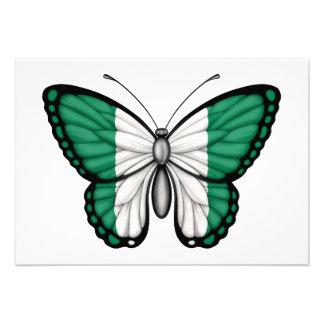 Nigerian Butterfly Flag Invites