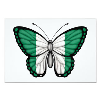 Nigerian Butterfly Flag 3.5x5 Paper Invitation Card