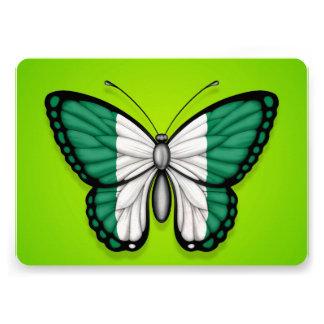 Nigerian Butterfly Flag on Green Custom Invites