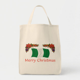Nigerian Christmas Grocery Tote Bag