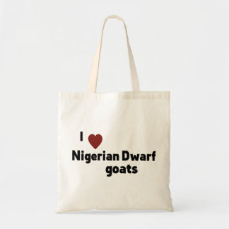 Nigerian Dwarf goats Budget Tote Bag