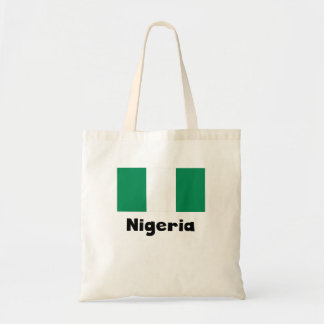 Nigerian Flag Budget Tote Bag