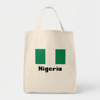 Nigerian Flag Grocery Tote Bag