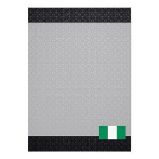 Nigerian flag 13 cm x 18 cm invitation card