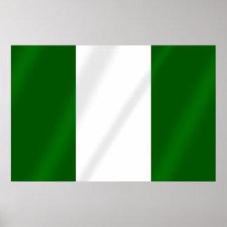 Nigerian flag of Nigeria Poster