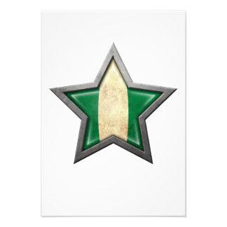 Nigerian Flag Star Invitations