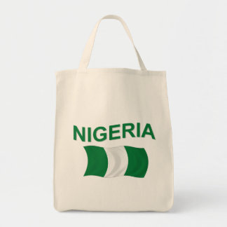 Nigerian Flag Grocery Tote Bag