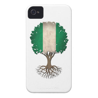 Nigerian Flag Tree of Life Customizable Case-Mate iPhone 4 Cases