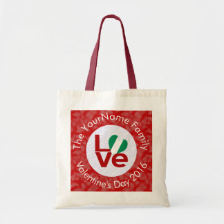 Nigerian LOVE White on Red Budget Tote Bag