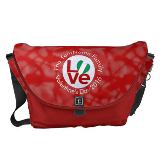 Nigerian LOVE White on Red Courier Bags