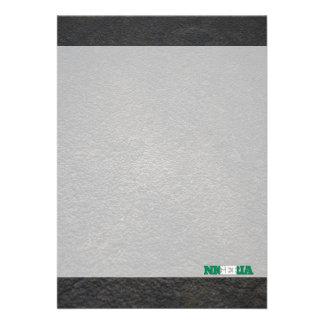 Nigerian name and flag 13 cm x 18 cm invitation card