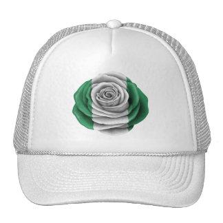 Nigerian Rose Flag Trucker Hat