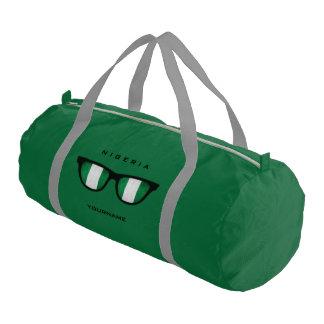 Nigerian Shades custom duffle bags Gym Duffel Bag