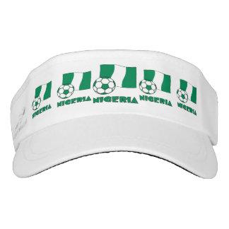Nigerian Soccer Ball and Flag Visor