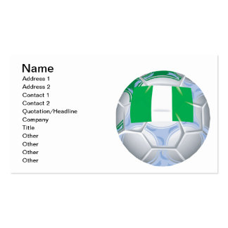 Nigerian Soccer Ball Double-Sided Standard Business Cards (Pack Of 100)