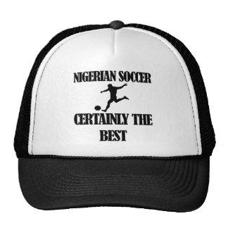 Nigerian soccer designs mesh hats