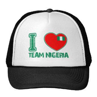 Nigerian sport designs hats