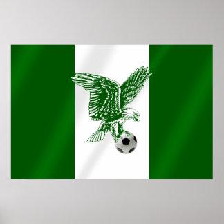 Nigerian Super Eagles flag of Nigeria Posters