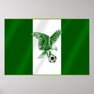 Nigerian Super Eagles soccer flag of Nigeria Poster