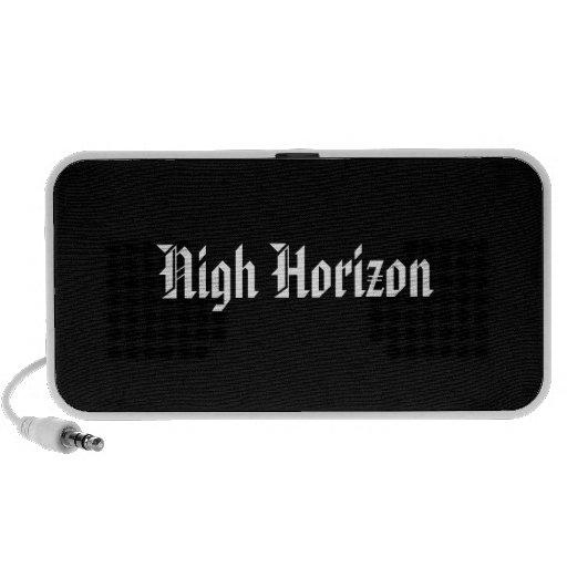 Nigh Horizon American Text Logo Doodle by OrigAudi Laptop Speaker