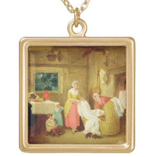 Night, 1799 (oil on canvas) (see 127218-220) gold plated necklace