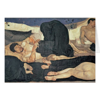 Night, 1890 (oil on canvas) greeting card