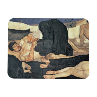 Night, 1890 (oil on canvas) rectangular photo magnet