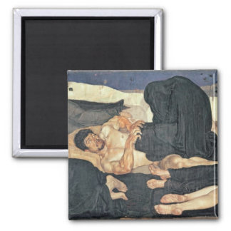 Night, 1890 (oil on canvas) square magnet