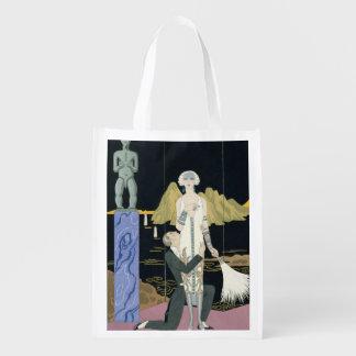 Night, 1925 (pochoir print) reusable grocery bag