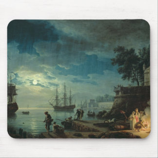 Night: A Port in the Moonlight, 1748 Mouse Mat