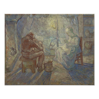 Night after Millet by Vincent Van Gogh Photographic Print