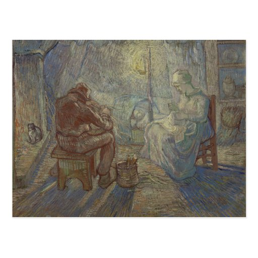 Night after Millet by Vincent Van Gogh Post Card