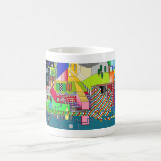 Night and Day Pixelated Dreamscape Trippy Mug