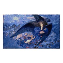 Night and Her Train of Stars Fine Art Angel Poster