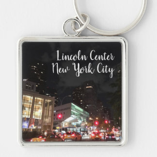 Night at Lincoln Center NYC New York Photography Key Ring
