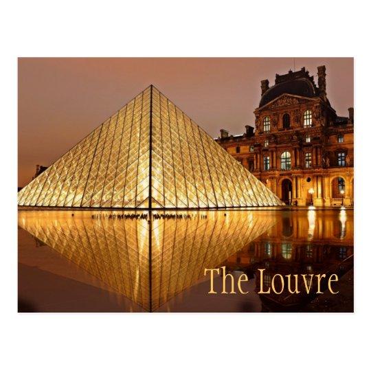 Night at the Louvre, Paris, France Postcard