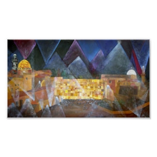 Night at Western Wall Poster